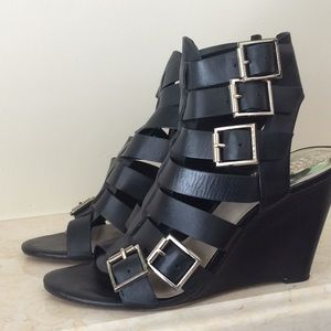 Vince Camuto Black Wedge Sandal